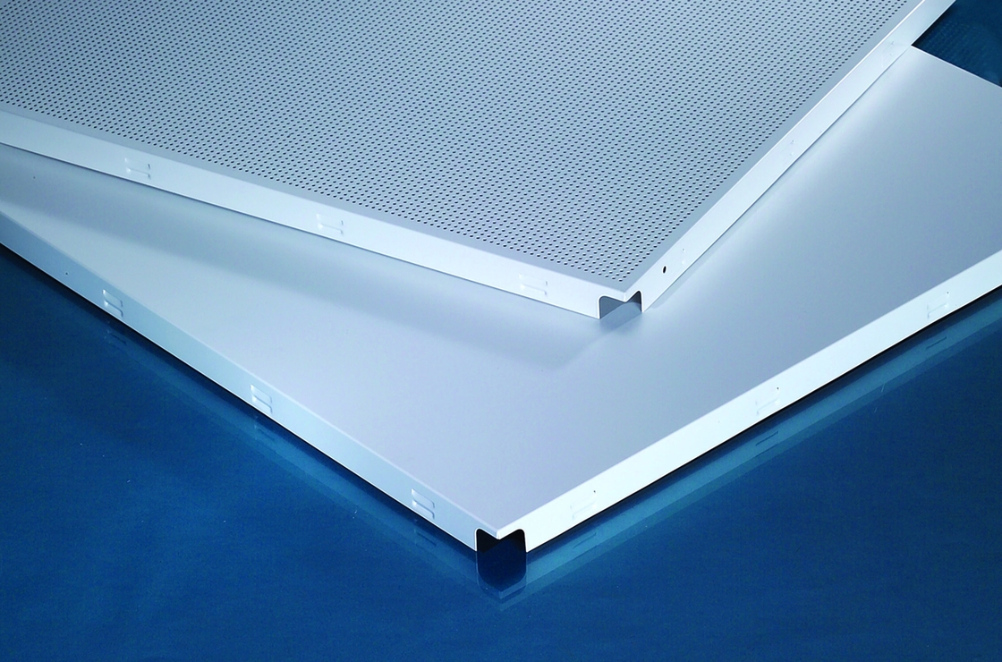 600x600mm Metal Clip In Ceiling Tiles With Hidden Frame Non Problematic Installation