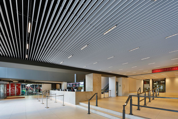 Suspended Metal Aluminum Screen Ceilings Open V100   for Shopping Hall